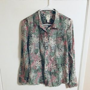 J. Crew Long Sleeve Blouse